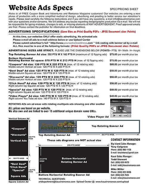 banner ad Spec Sheet
