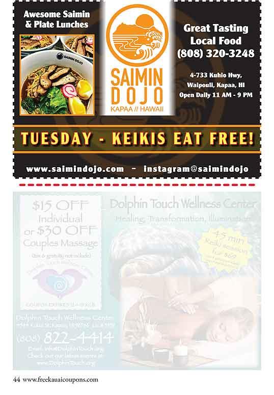 Free Kauai Coupons | Home Page | Kauai, Hawaii valuable free